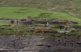 The Brough of Birsay, a Pictish settlement on a small tidal island