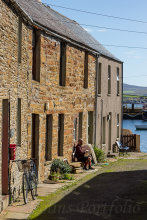 Houses leading down to the harbour at Stromness
