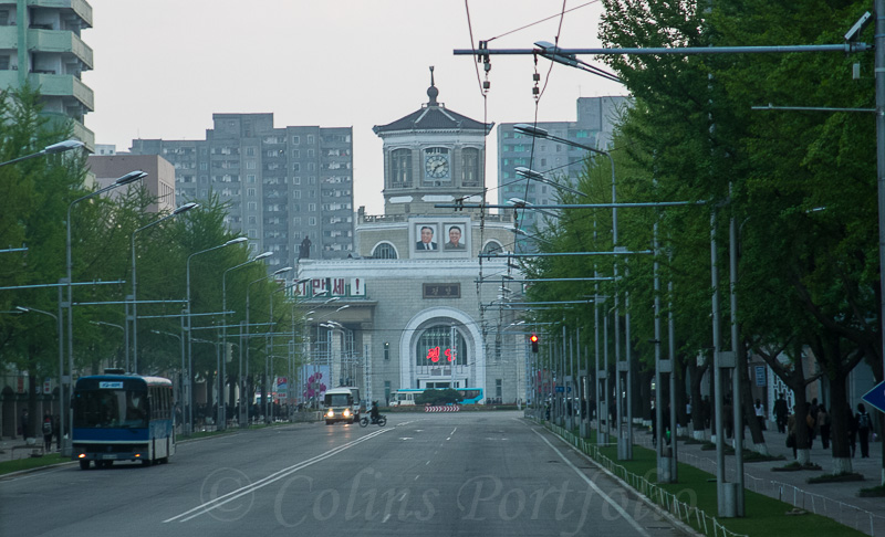 Approaching the city train station