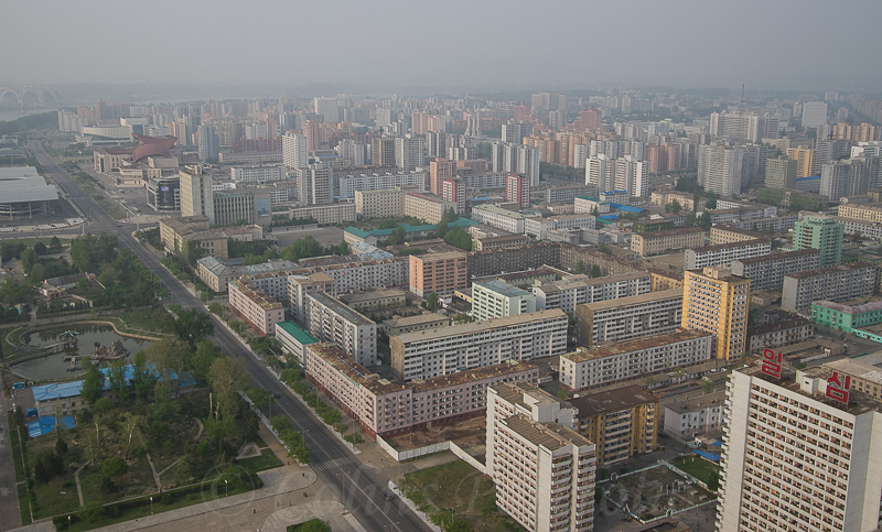 Looking towards the Taedonggang District of Pyongyang City