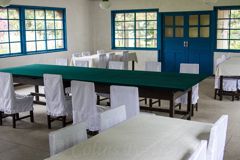 The meeting room in which the armistice agreement was signed between North and South Korea