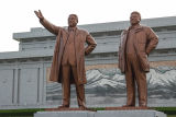 Leaders' statutes in Kim Il Sung Square