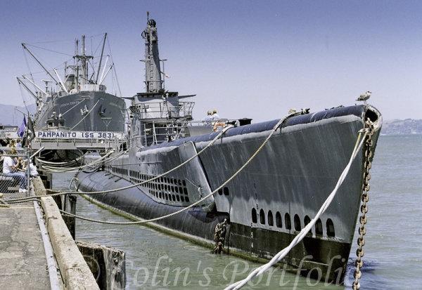 "US Navy Balao class submarine, ""U.S.S. Pampanito"""