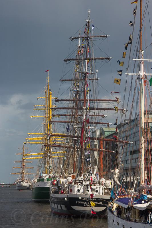 Part of the Tall Ships fleet