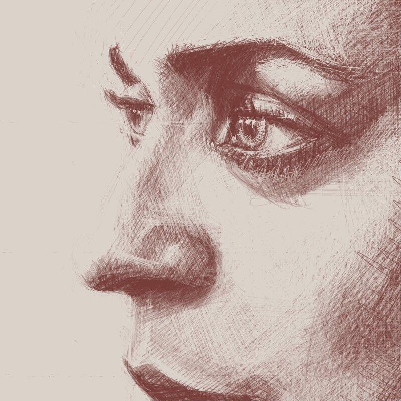 Digital Portraiture Study XVIII