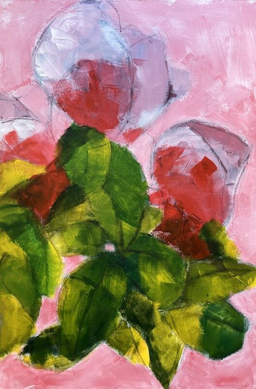 Spring Apple Greens and Cadmium PInks