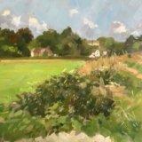 Towards Castle Mill, Dorking. 24 x 30 cms £150 u/f