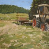 Tractor at Denbies NFS