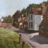 Coldharbour, Surrey Framed size 38x50 cms Oil on board £200