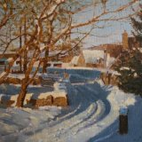Cotswold Snow Scene - Sold