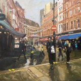 "Irving Street, towards Leicester Square 16x12"" Oil on MDF board £500 unframed"
