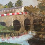 "Tilford Bridge 16""x12"" Oil on board. £150 Unframed"