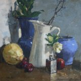 Cream Jug - Still Life. Framed size 365mm sq Oil on board £280