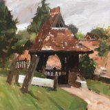 The Lych Gate at Mickleham Church. 24x30cms Oil on MDF board £165