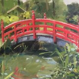 The Japanese Garden, Clandon Park 24x30cms Oil on MDF board £150 unframed