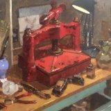 "Still life with Lino press. 16"" x 20"" framed size £850"