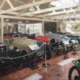 "The Malcolm Campbell Shed - Brooklands Museum 16""x20"" Oil on board £650 unframed"