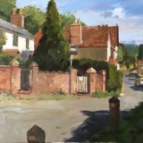 "Holmbury St Mary 12""x16"" Oil on MDF board   Sold"