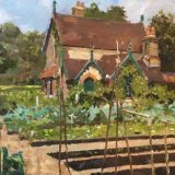 "The Old Kitchen Garden - Polesden Lacey 14""x10"" Oil on MDF board £170 unframed"