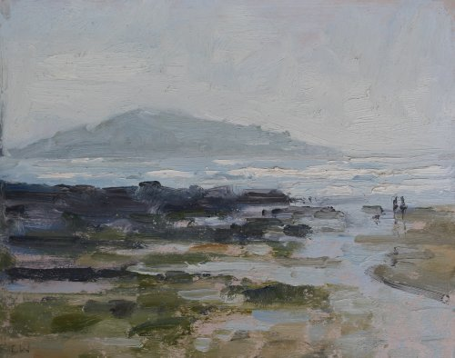 44. 'Hazy light, Bantham'   Oil   20x25cm