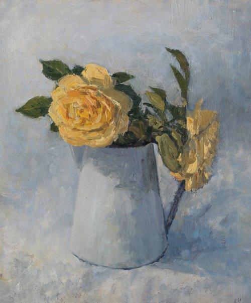 24. 'Yellow roses'   Oil  29x35cm