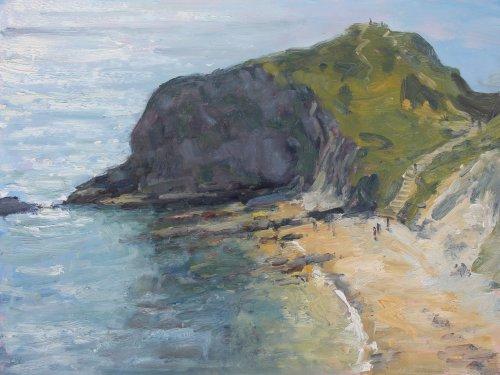 22. 'Sea sparkle, Man o War Cove'    Oil   30x40cm