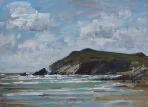 9. 'Porth Beach'    Oil    36x50cm