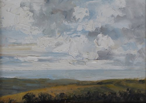 8. 'View to the sea'     Oil   17x23cm