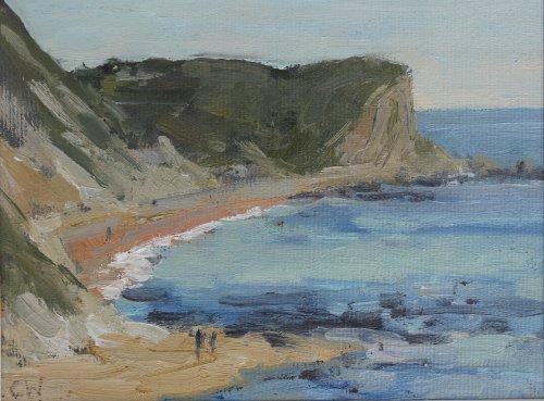 3. 'Man o War Cove'    Oil on paper    10x15cm