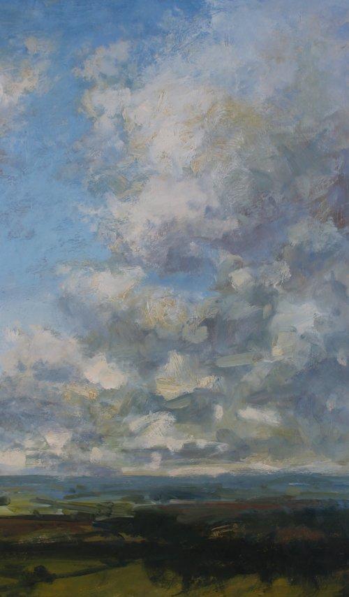 64. 'Cloudscape'      Oil     40x70cm
