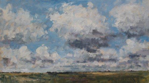 65. 'Cloud study'    Oil   40x70cm