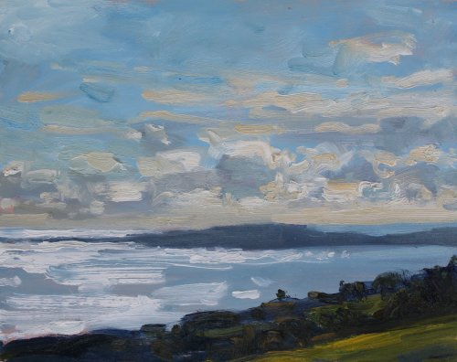 1. 'Light on Weymouth Bay'  Oil    20x25cm