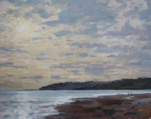 13. 'October light, Charmouth'   Oil   40x50cm