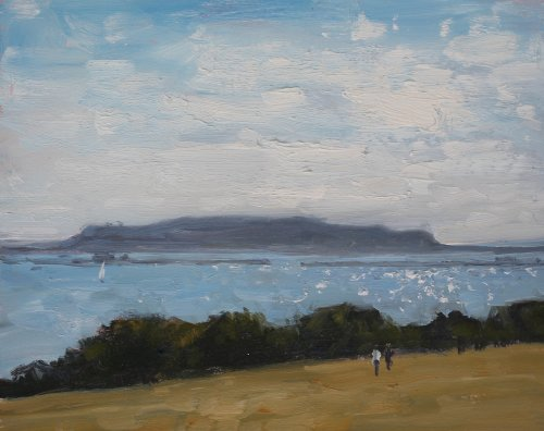 'Looking towards Portland' Oil 20x25cm