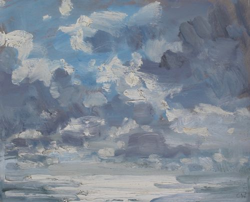 'Light on the sea' Oil 20x25cm