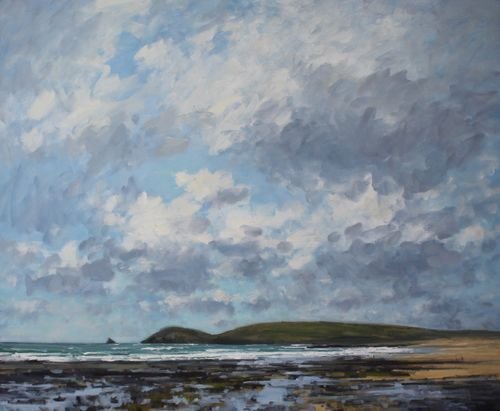 Billowing clouds, Constantine Bay' Oil 100x120cm