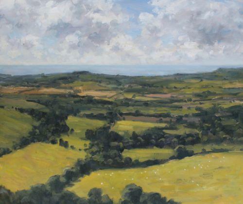 'View from Eggardon' Oil 50x60cm