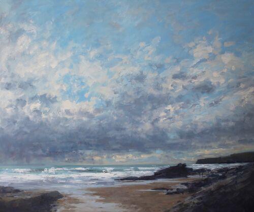 'Sunshine at cloud, Trebarwith' Oil 100x120cm