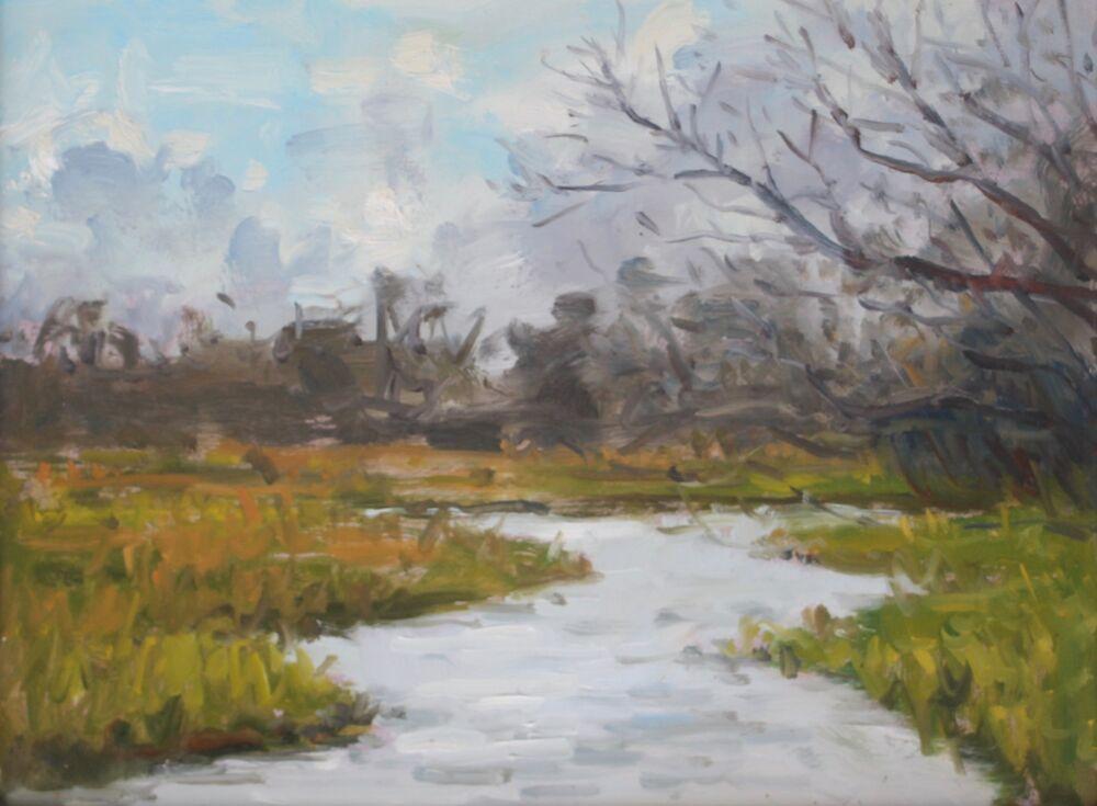 'Winter river'   Oil   30x40cm