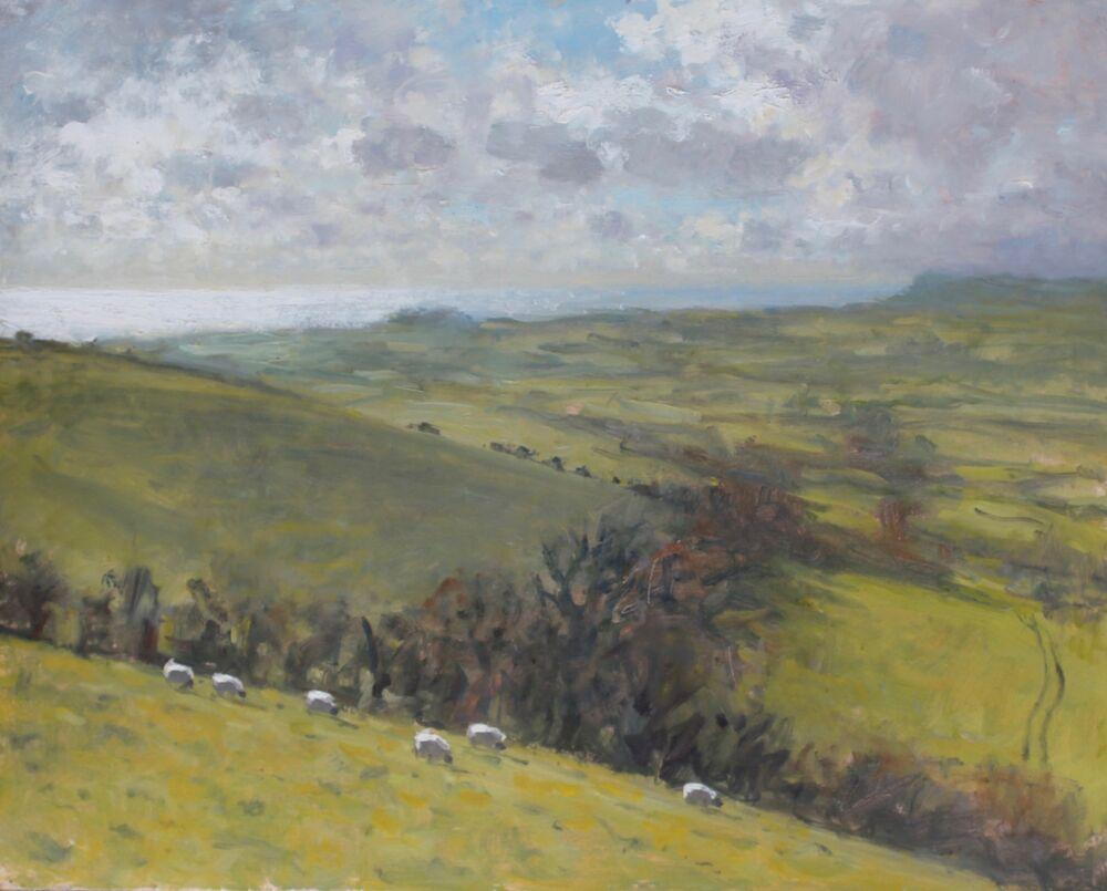 'Fast moving light, Eggardon'   Oil   40x50cm