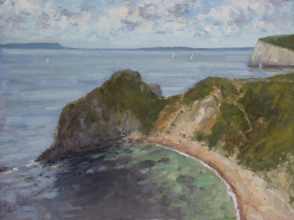 'Man o War Cove'.     Oil.     30x40cm