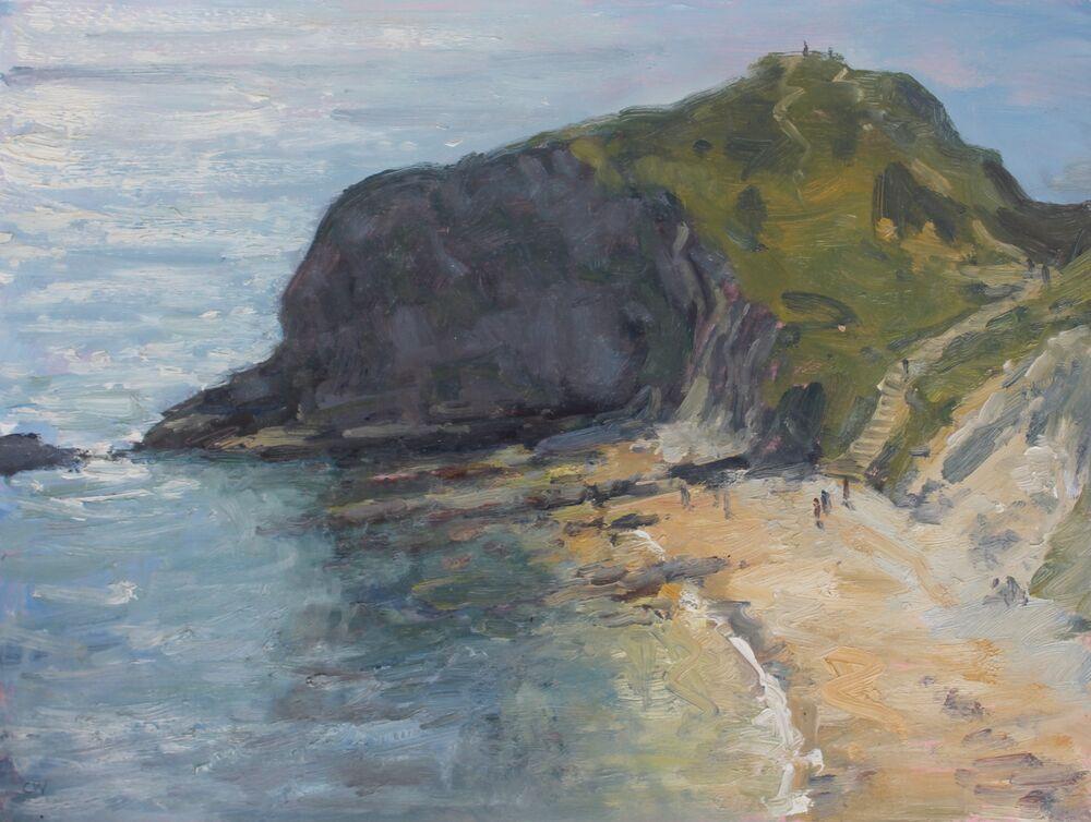 'Sparkling sea, Man o War Cove'    Oil.   30x40cm