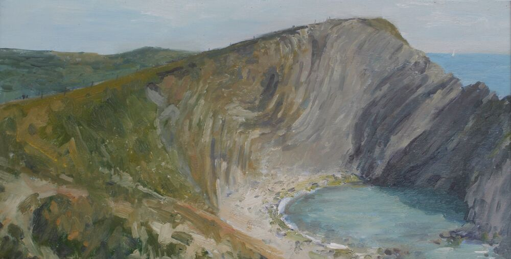 'Lulworth Crumple'    Oil     30x60cm