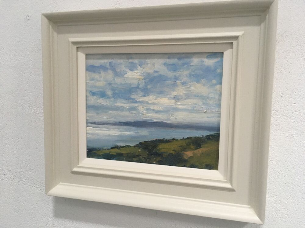 Example of finished painting in hand painted wooden frame