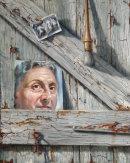 """""""Self portrait, broken mirror on the old studio door"""""""
