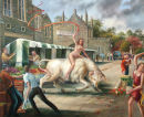 """Europa and the Bull at the Organic Farmers Market, Tavistock"""