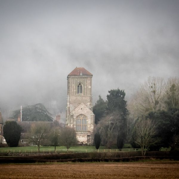 Mist over Little Malvern Priory