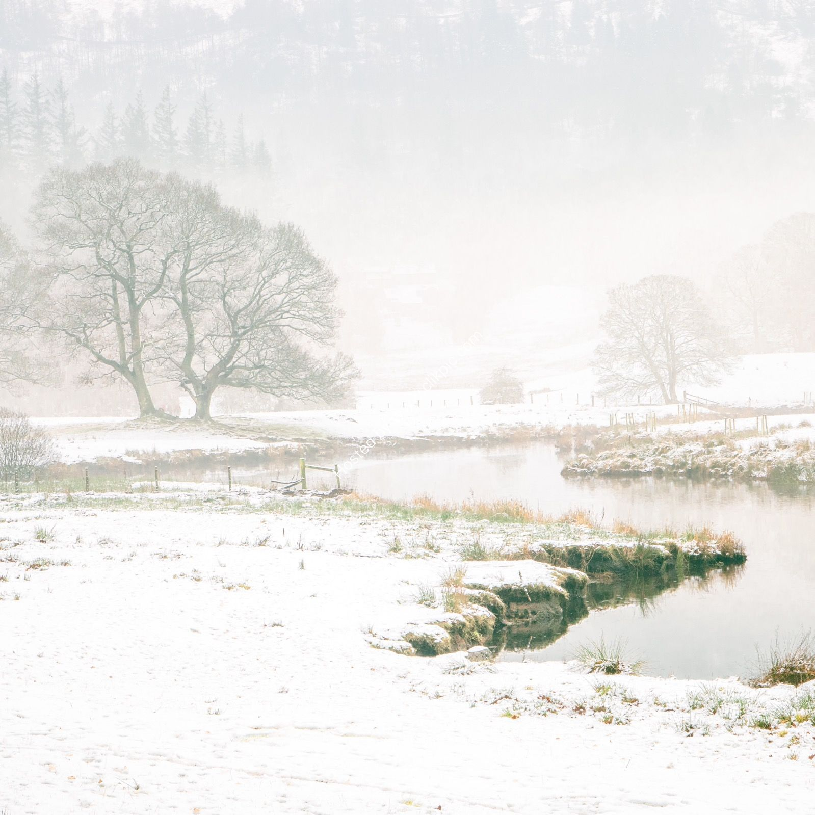 River Brathay in Winter 1