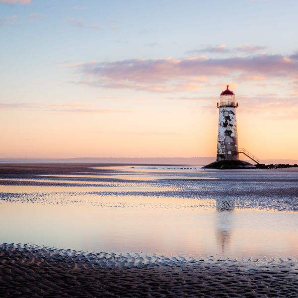 Sunrise Talacre Beach North Wales