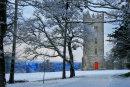 Carton Tower in Snow